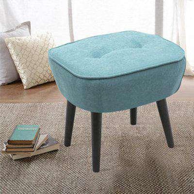 Linen Dressing Footstool Small Stool - Blue