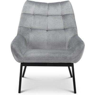 Lucerne Velvet Chair - Grey