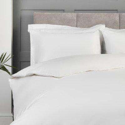 Luxe Cotton 400 Thread Count Oxford Pillowcase Pair - White