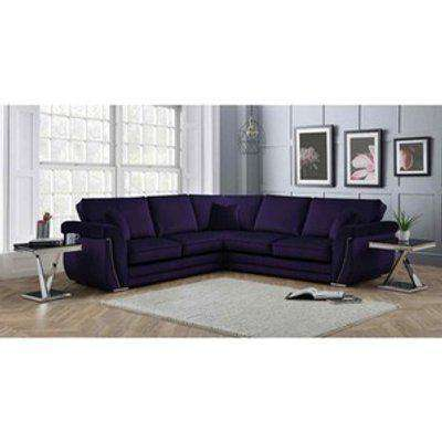 Luxe Full Back Large Corner Sofa - Ameythst