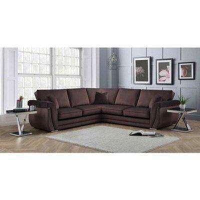 Luxe Full Back Large Corner Sofa - Mushroom