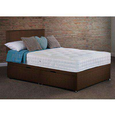 Lynton Side Lift Ottoman Bed With Mattress - Chocolate / Single