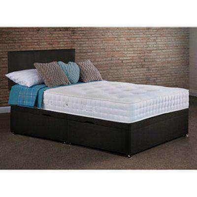 Lynton Side Lift Ottoman Bed With Mattress - Black / Super King