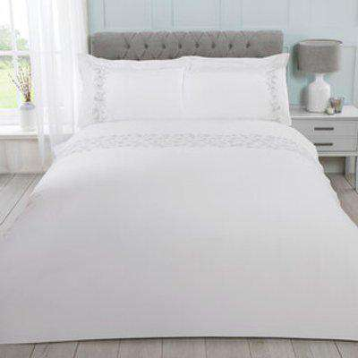 Madeleine Embroidered Duvet and Pillow Case Set  - Double