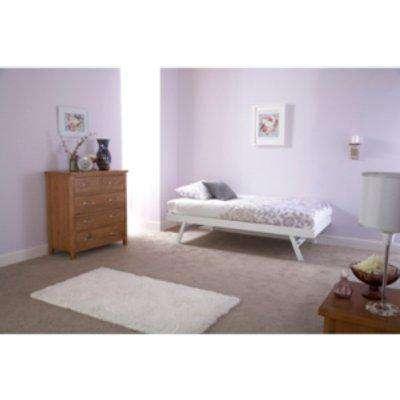 Madrid Trundle Bed Frame - White
