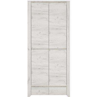 Marbel Two Door Two Drawer Fitted Wardrobe - White Craft Oak