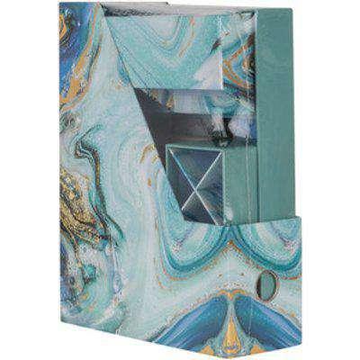 Marble Foiled Desk Organiser Set - Blue