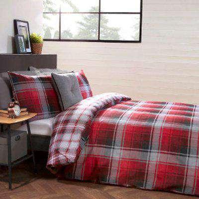 Fraser Check Duvet Cover and Pillowcase Set - Super King
