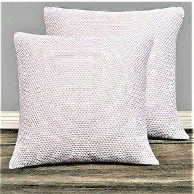 Mesh Cushion Cover 100% Cotton Set of 2 - Cream