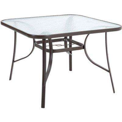 Outdoor Coffee Table With Umbrella Hole - Black / Square
