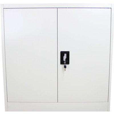 Metal Filing Cabinet 90cm - White