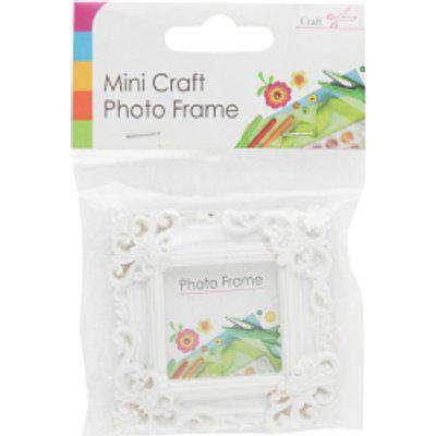 Mini Craft Photo Frames - White