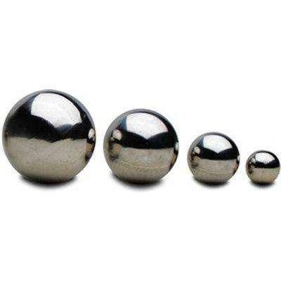 4 Mirror Spheres 5.5, 9, 15, 20cm Stainless Steel Garden Globe Ornaments