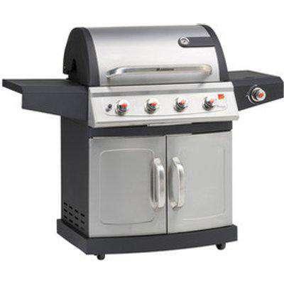 Miton 4.1 Pts Ss Gas Barbecue 12660 - Silver/Black