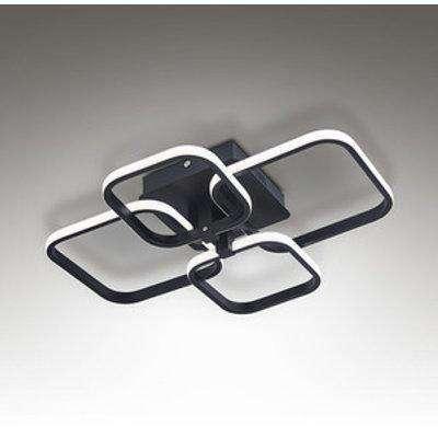 Modern Chandelier Ceiling Light (Black Frame) - Black / 72W
