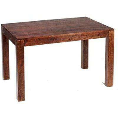 Modern Dakota Mango Wood 4ft Small Dining Table  - Dark Wood