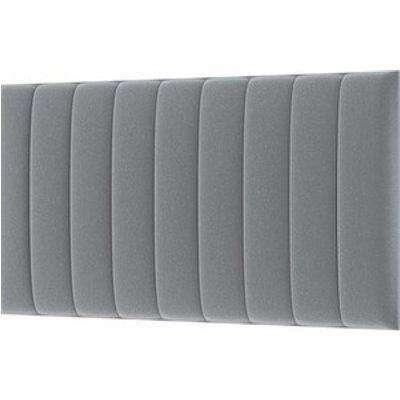 Modern Upholstered Velvet Headboard - Silver / King