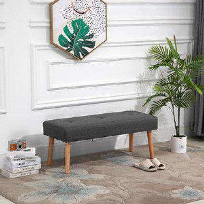 Multifunctional Shoe Bench Footstool - Grey