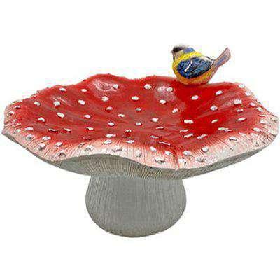 Mushroom Shaped Bird Bath Garden Ornament