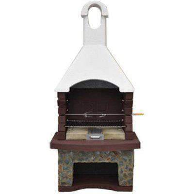 Mussalla Masonry BBQ with Built in Rotisserie - Brown