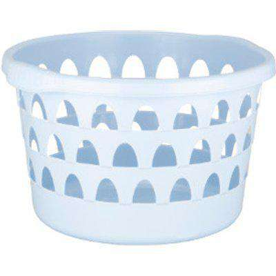 My Home Round Laundry Basket - Pale Blue