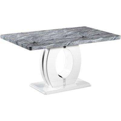 Neptune Marble Effect Top Dining Table - 180cm