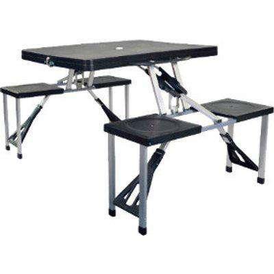 New Regent Folding Picnic Table - Black