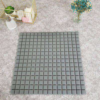 Non-Slip PVC Bath Mat with Suction Cups - Dark Grey / 53.5cm