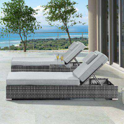 Nova Rimini Sun Lounger Set - Grey