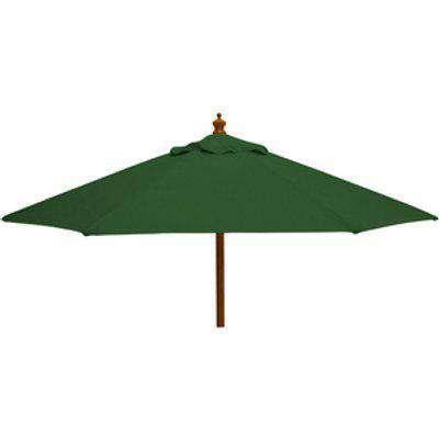 Nova - 2.5M Round Wooden Garden Parasol - Green