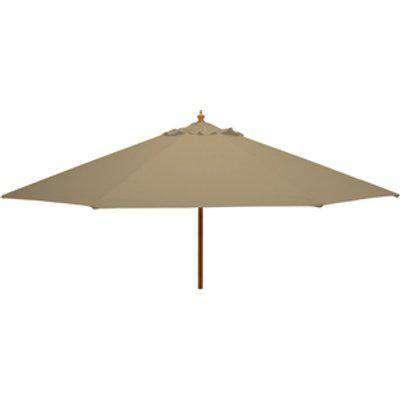 Nova - 3m Round Wooden Garden Parasol - Taupe