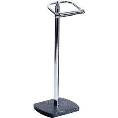 Octavia Grey Resin Marble Freestanding Toilet Roll Holder - Grey