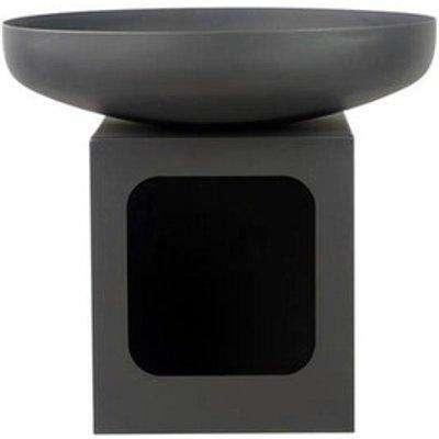 Oklahoma 60cm Fire Bowl with Log Store - Black