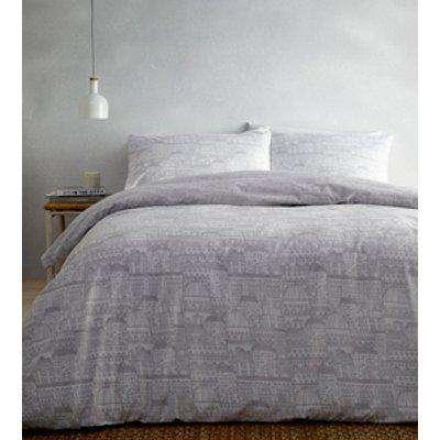 Old Town Duvet And Pillowcase Set - Grey / King
