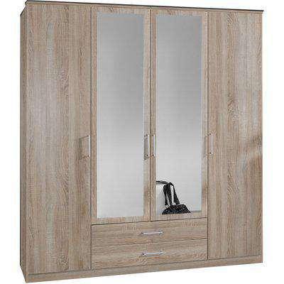 Osaka Oak 2 Door Corner Wardrobe - Oak Effect