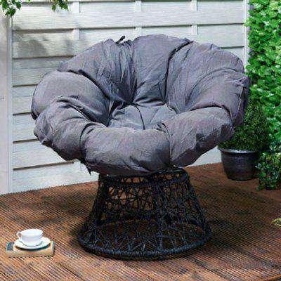 Outdoor Swivel Chair - Grey