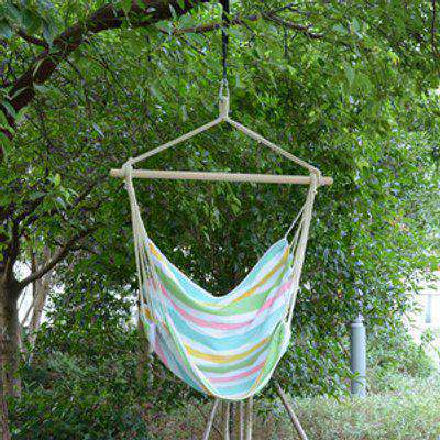 Outdoor Tree Hanging Rope Chair - Green