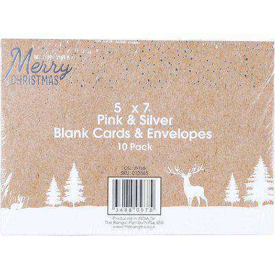 Pack of 10 Christmas Cards and Envelopes