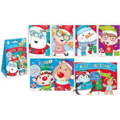 Pack of 32 School Christmas Cards