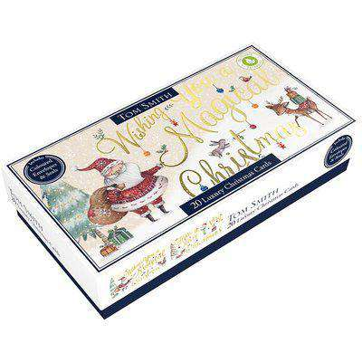 Pack of 20 Tom Smith Luxury Slim Whimsical Christmas Cards