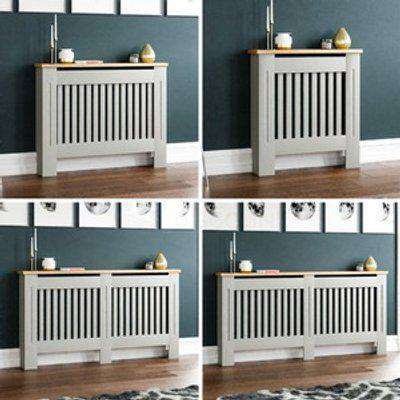 Painted MDF Cabinet Radiator Cover Wooden Cabinet - White / 152cm