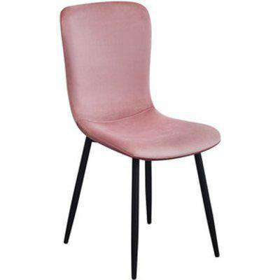 Pair of Mia Dining Chairs - Blush