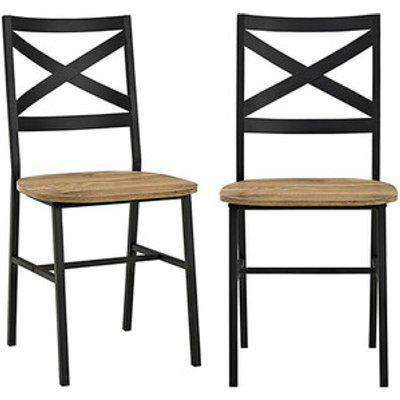 Pair of Toronto Industrial Dining Chairs - Barnwood