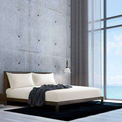 Palace Percale Fitted Bedsheet - Ecru  / Single