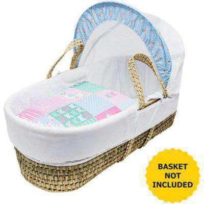 Patchwork Birds Moses Basket Bedding Set