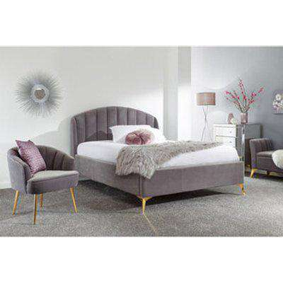 Pettine End Lift Ottoman Bed - Grey / Double