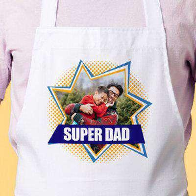 Photo Upload Apron - Super Dad