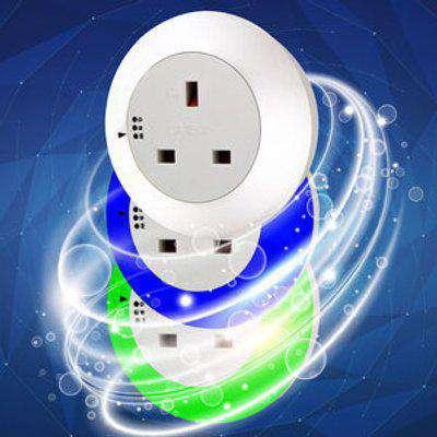 Plug Through Night Light - White