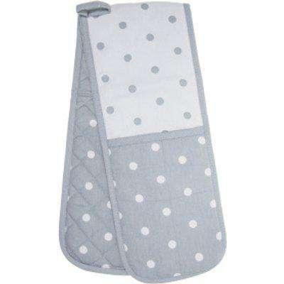 Polka Dot Grey Double Oven Glove