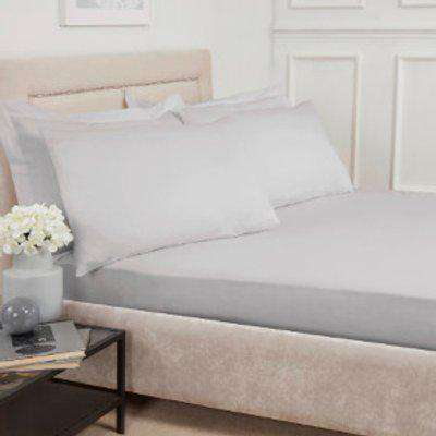 Polycotton Deep Fitted Sheet - Silver / Double